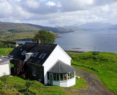 Tostarie House - View over to Ulva